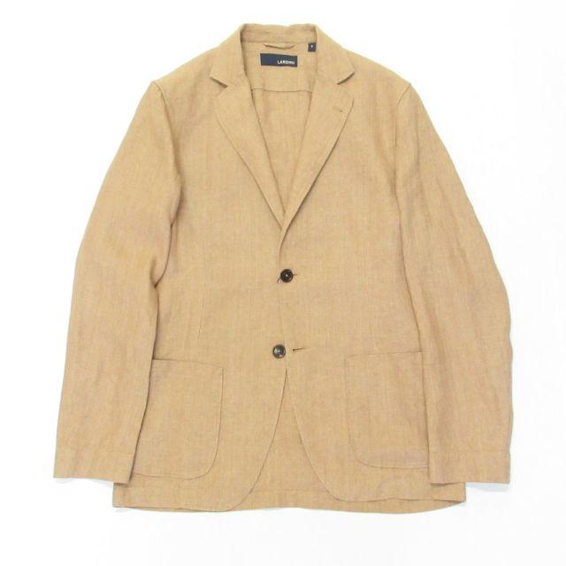 JRAMJ-EIC1196-220 LARDINI (ラルディーニ)LINEN100% シングル2Bシャツジャケット ベージュ