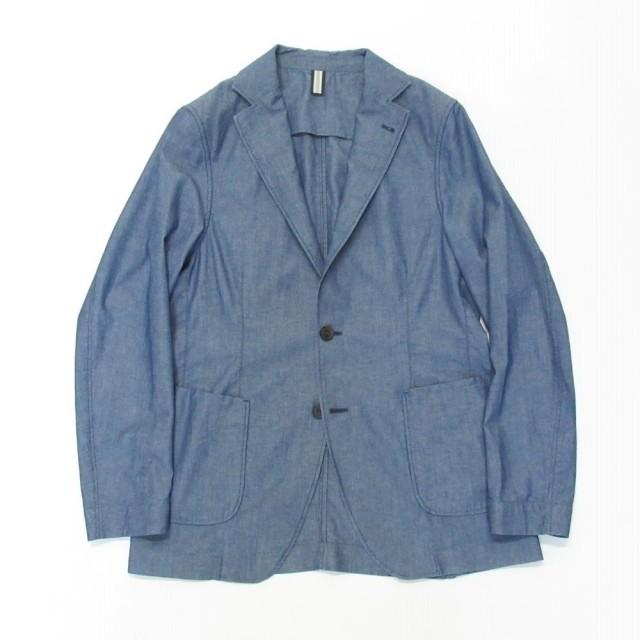 RICK_GLJ06197-050 BAGUTTA (バグッタ) コットンシャンブレー 2B シャツジャケット ブルー
