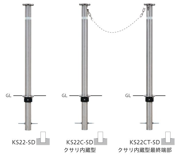 φ48.6バリカーKS22シリーズ 固定式H710