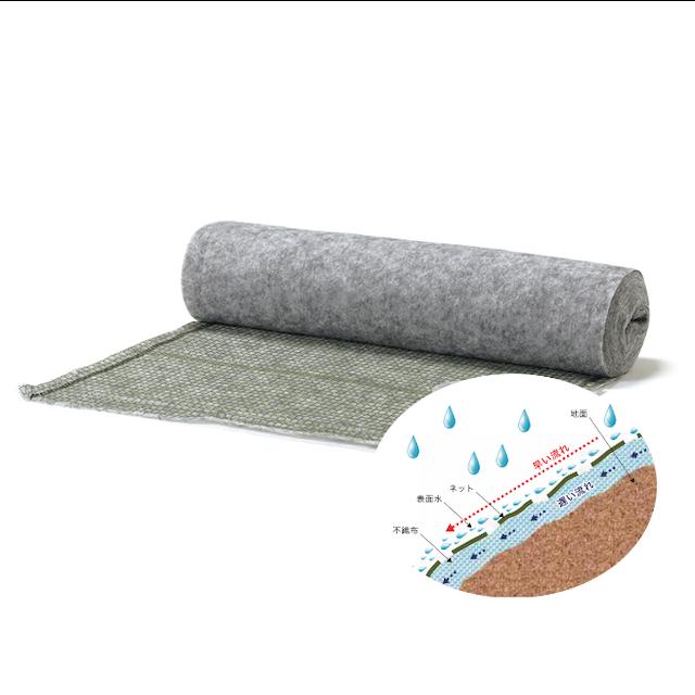 土壌流出防止材「ガードレイン®タイプR」耐侵食・緑化バランスタイプ