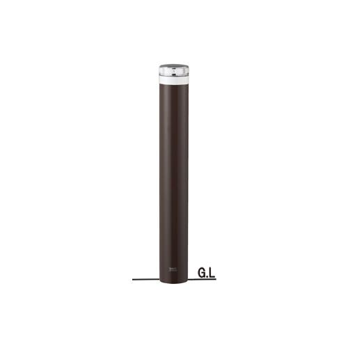 ソーラーLEDスチールバリカーφ114.3×H857点灯タイプ/ダークブラウン