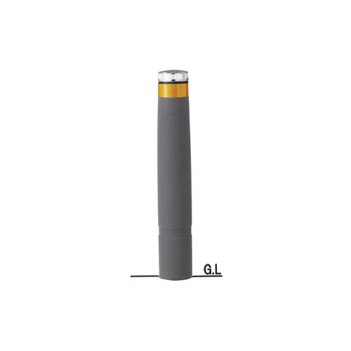 再帰反射リサイクルゴムチップバリカーφ130×H807ソーラーLED点滅タイプ/グレー
