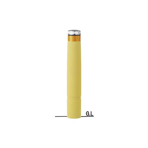 再帰反射リサイクルゴムチップバリカーφ130×H807ソーラーLED点灯タイプ/イエロー
