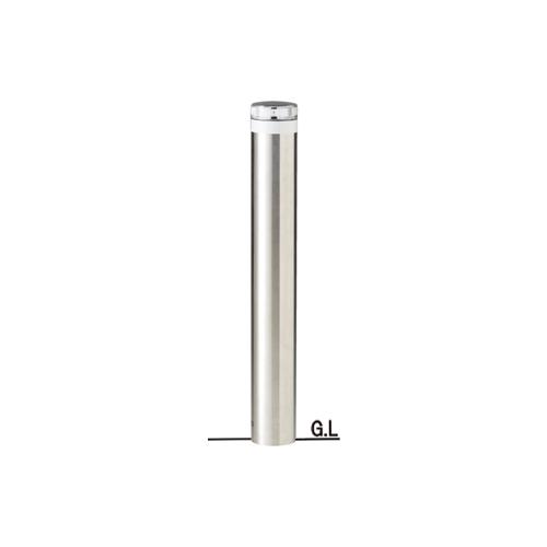 ステンレスバリカーφ114.3×H857ソーラーLED点灯タイプ