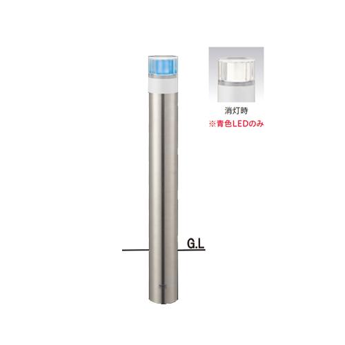 ステンレスバリカーφ101.6×H850ソーラーLED点灯タイプ