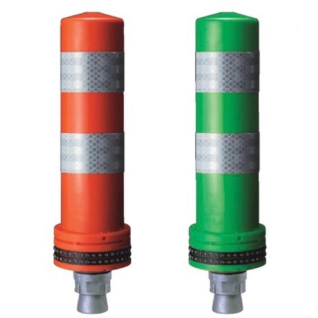 ポールコーンφ98小径ベースミニタイプ(1本脚M16・接着) (赤・緑)