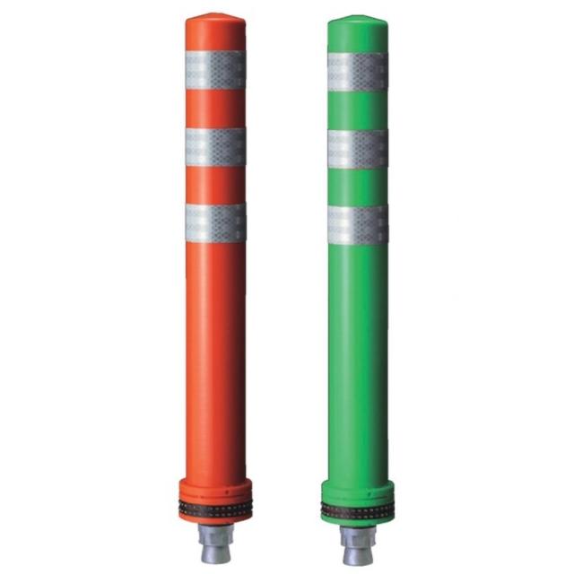 ポールコーンφ98ベースNSタイプ 1本脚(M16) (赤・緑)