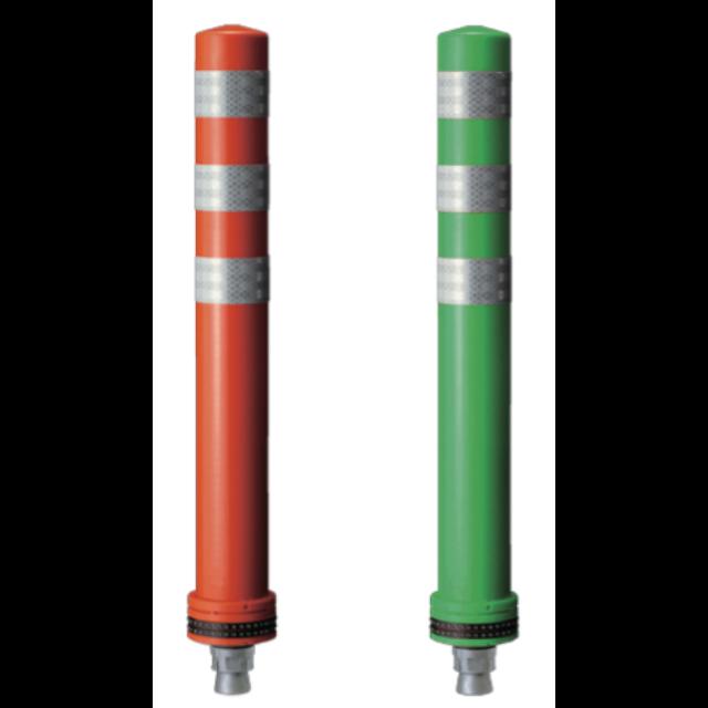 ポールコーンφ98ベース プラスPSタイプ 1本脚(赤・緑)