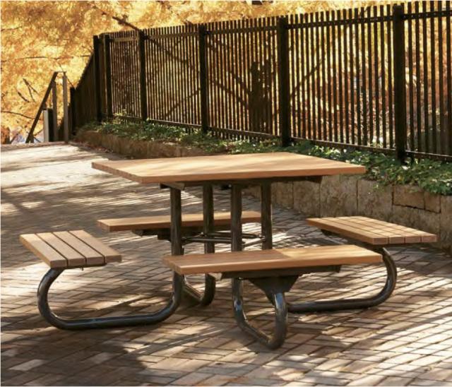 テーブルベンチ4方向タイプ