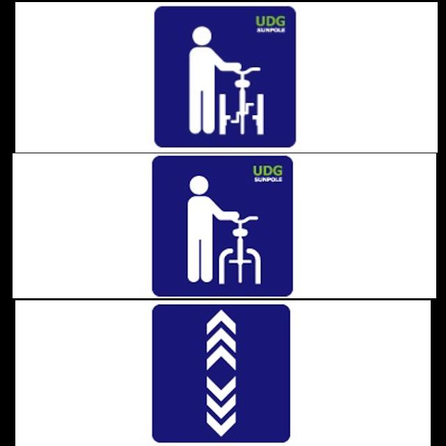 路面標示サイン【自転車ゲート】