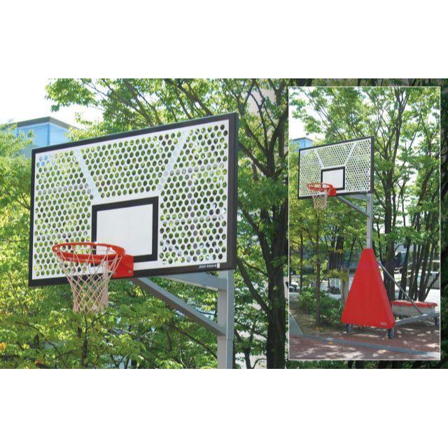 バスケットゴール移動式アルミパンチング「一般用」