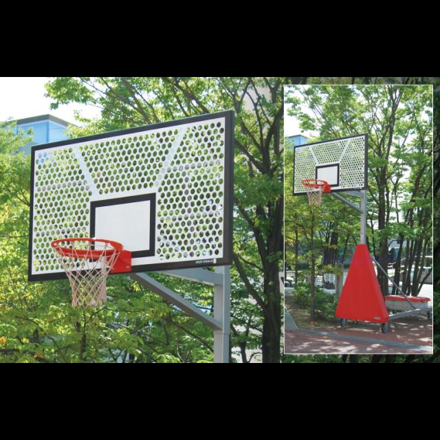 バスケットゴール移動式アルミパンチング「ジュニア用」