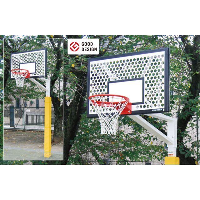 バスケットゴール単柱式アルミパンチング「ジュニア用」