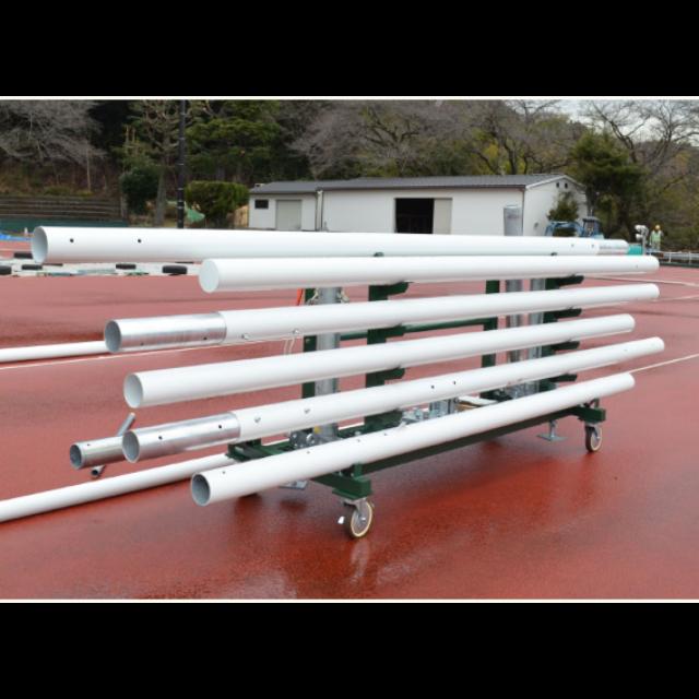 移動・保管台車(ラグビーゴール起倒式 H17m/13m用)