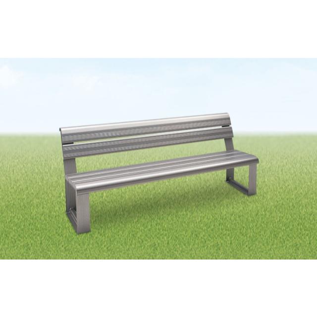 アルミ製スポーツベンチ背付き