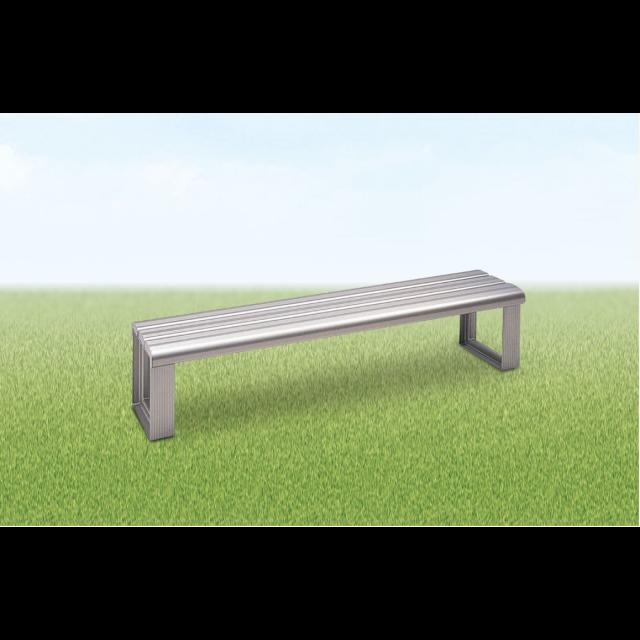 アルミ製スポーツベンチ背なし
