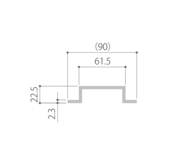 kankyo-wood II デッキ部材【大引・根太用/ハット型鋼板2】
