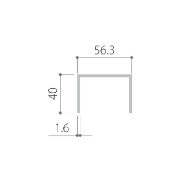 kankyo-wood II デッキ部材【大引・根太用/C型鋼板 幕板用下地】