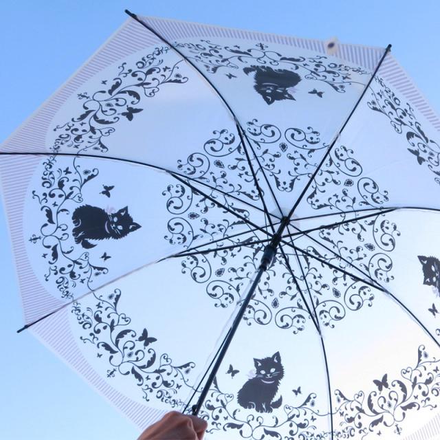 キャットプリントビニール傘