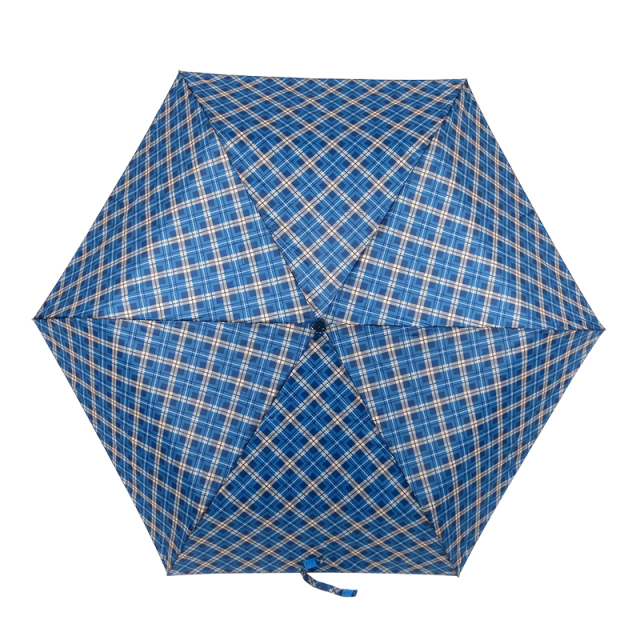 チェック柄メンズ折りたたみ傘