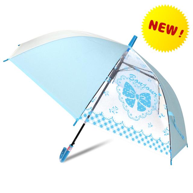 55cm2コマ透明女の子用傘
