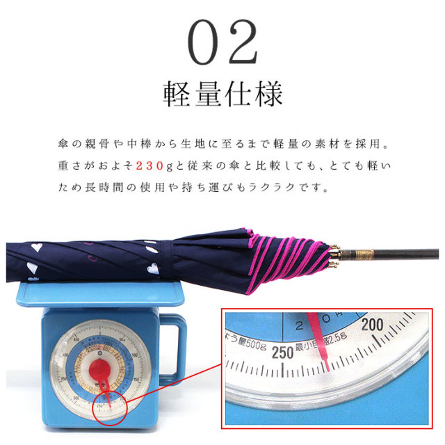 軽量晴雨兼用ジャンプ傘