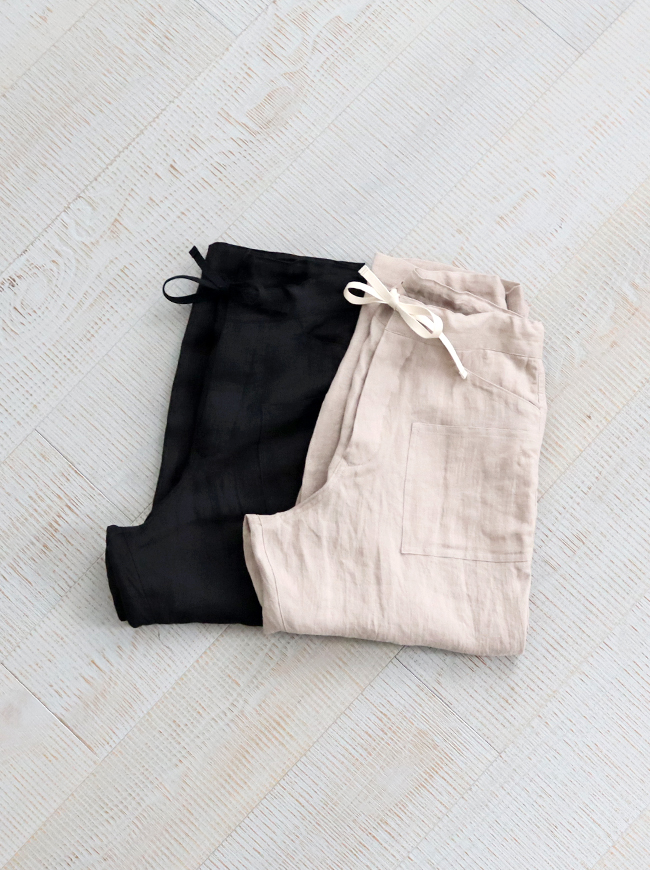 HAVERSACK Dry Serge Linen Easy Pants