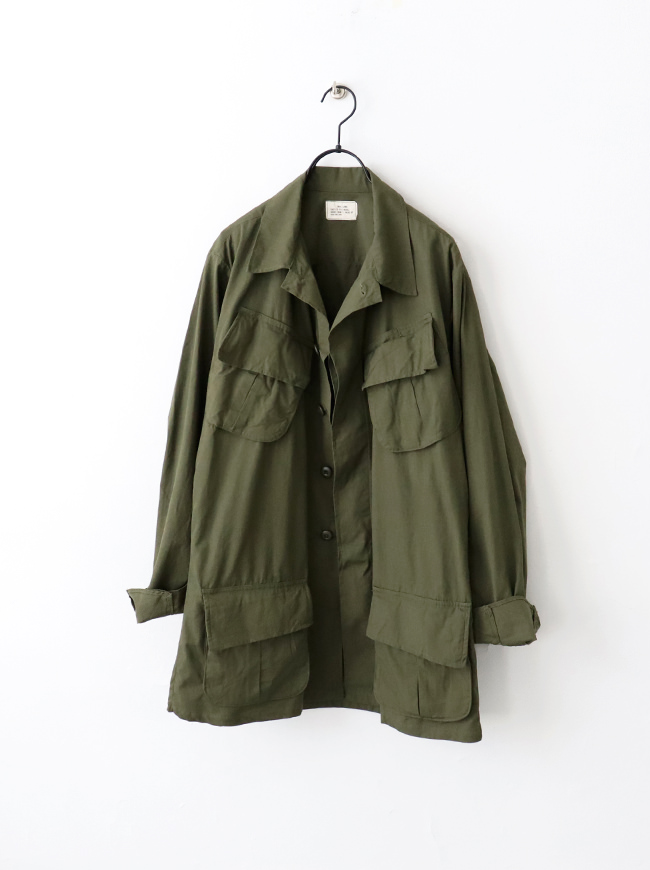 """DEADSTOCK US ARMY JUNGLE FATIGUE JACKET """"3rd"""""""
