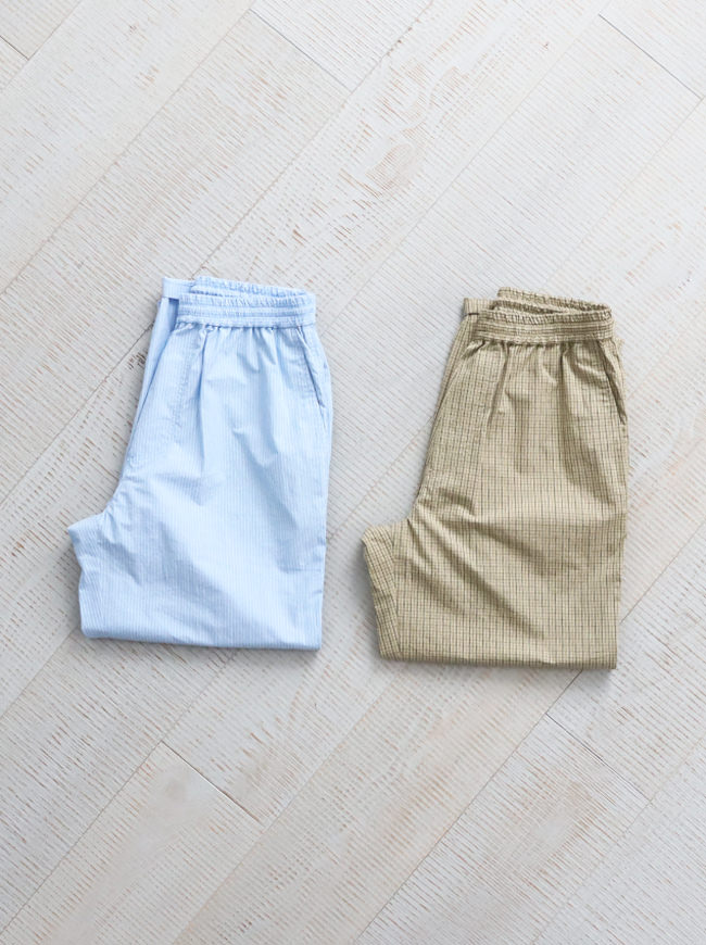 unfil cotton-weather wide tapered easy trousers