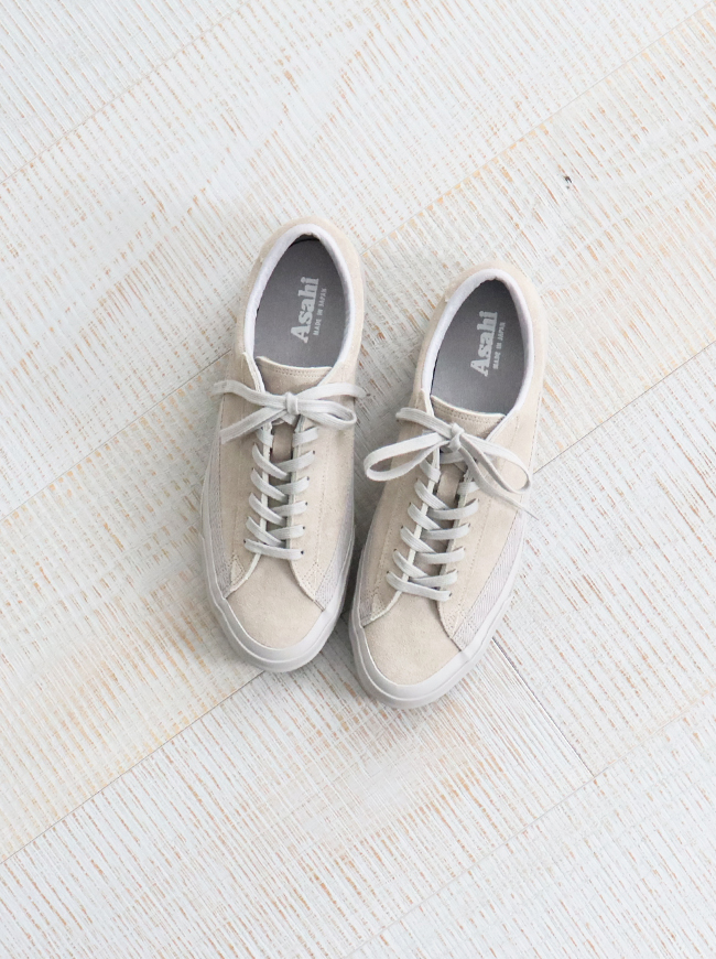 ASAHI BELTED LOW SUEDE - GRAY/GRAY