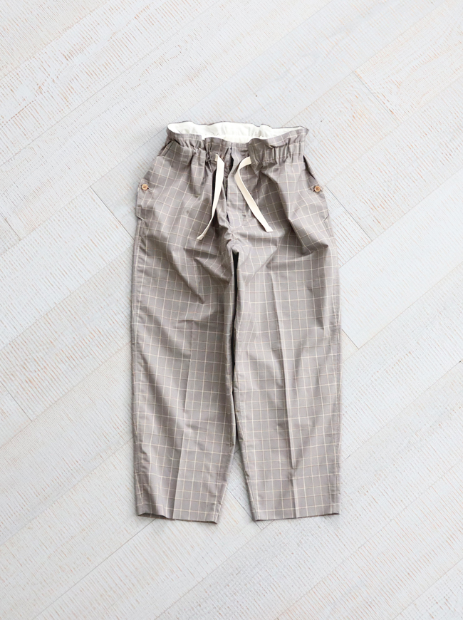 """【20%OFF】HAVERSACK Check Wide Easy Pants """"GRAY"""" -ナイモノねだり"""
