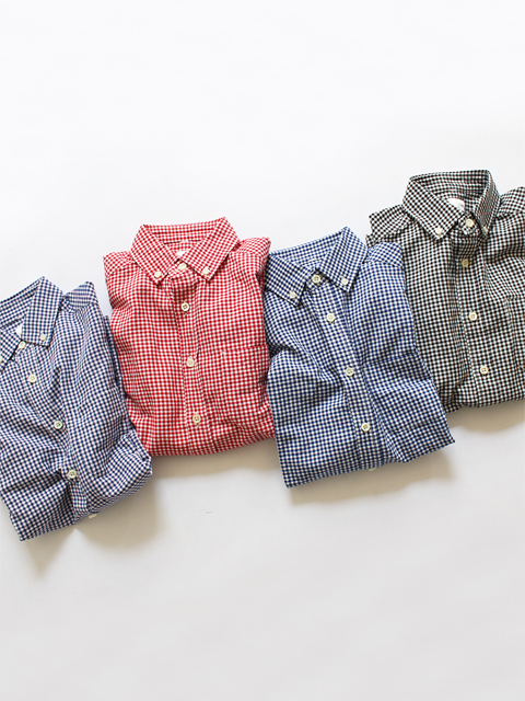 maillot (マイヨ) Sunset Gingham B.D. Shirts (ギンガムB.D) MAS-003