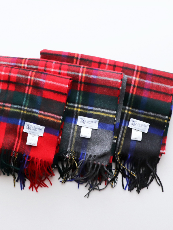 JOHNSTONS OF ELGIN CASHMERE STOLE - CHECK