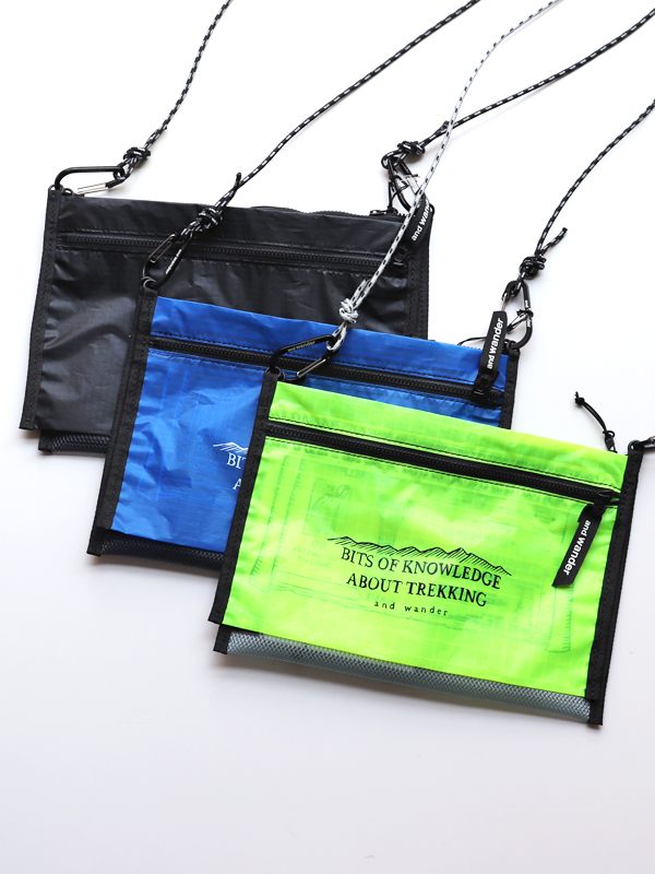 and wander アンドワンダー twin pouch set