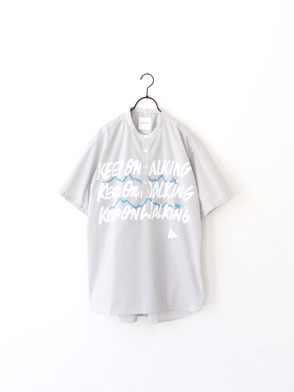 and wander  typography printed pullover shirt
