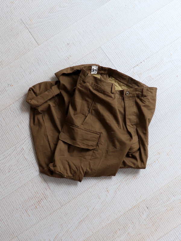 DEADSTOCK 1960's French Army M-47 Field Trousers -Late