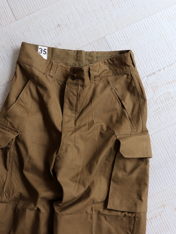DEADSTOCK 1950's French Army M-47 Field Trousers -Early