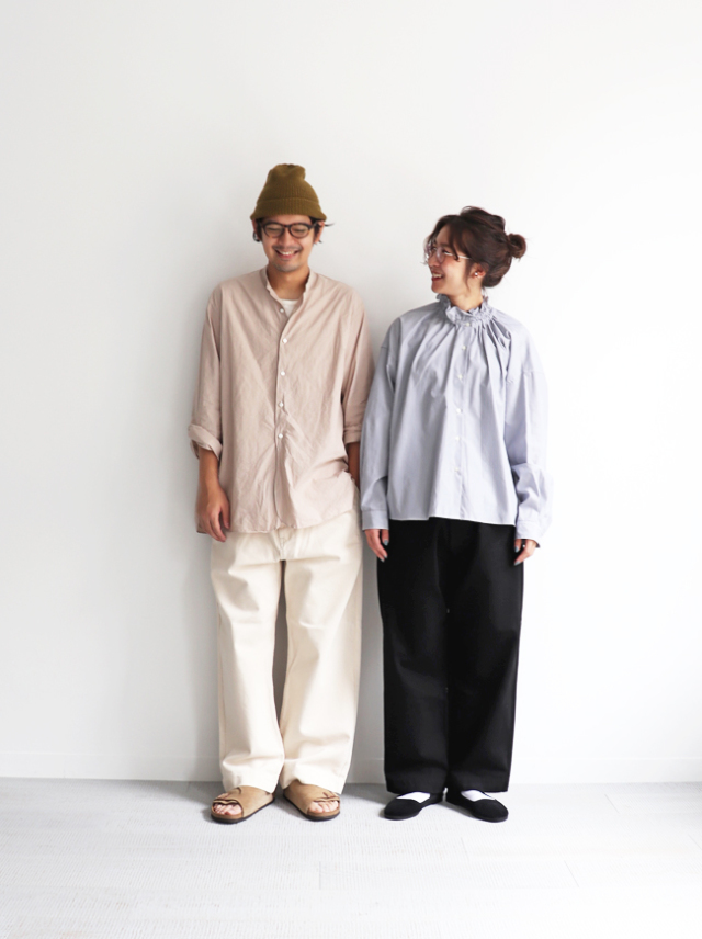 HATSKI Stitch Wide Easy Pants -Katuragi