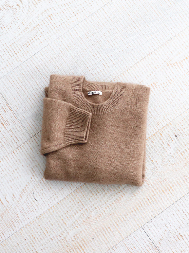 AURALEE BABY CASHMERE KNIT P/O
