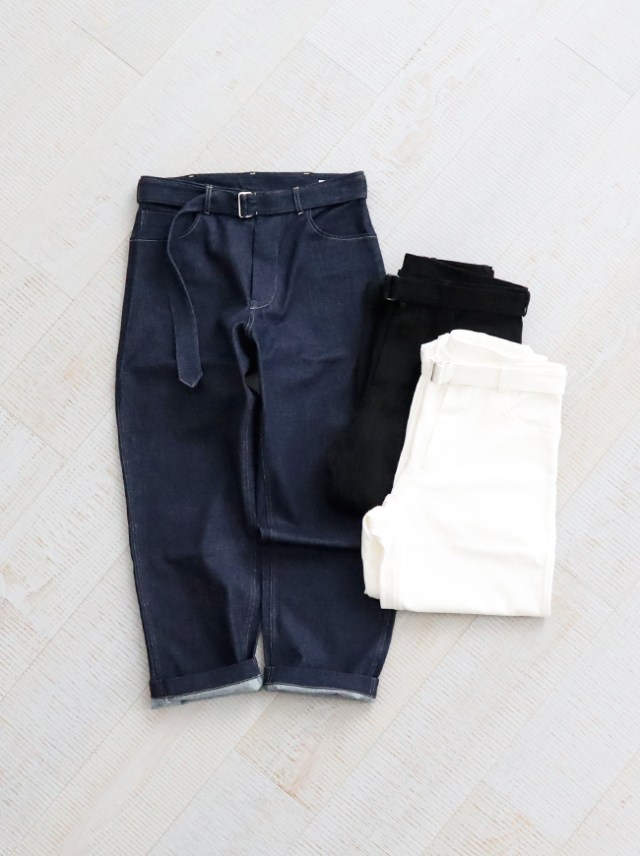 blurhms Belt Denim Pants