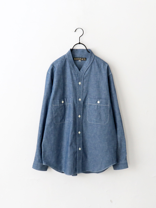 HAVERSACK Chambray No Collar Shirts