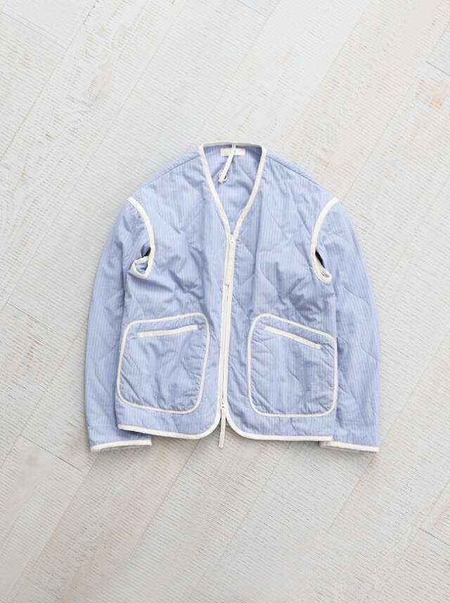 unfil washed brushed cotton quilted jacket