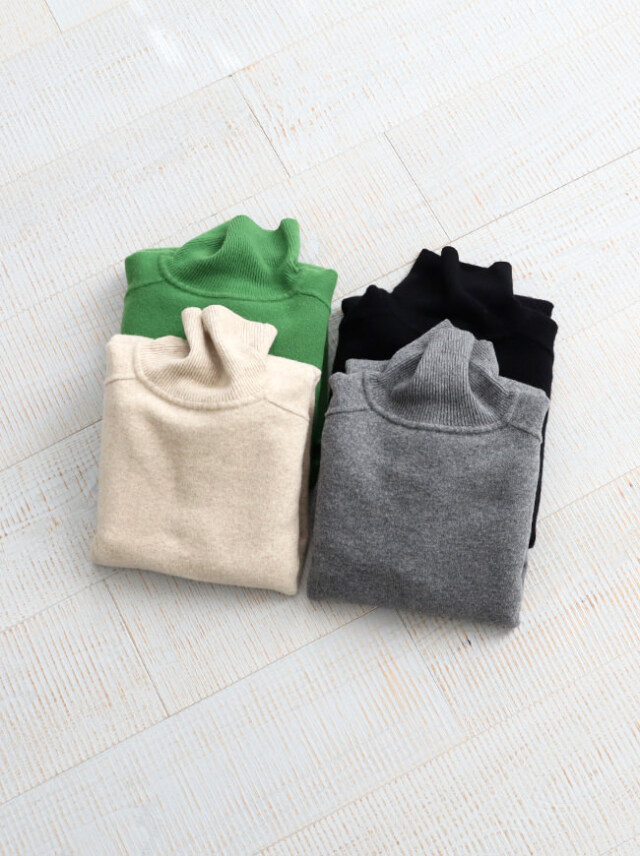 BATONER FLEECE WOOL TURTLE NECK