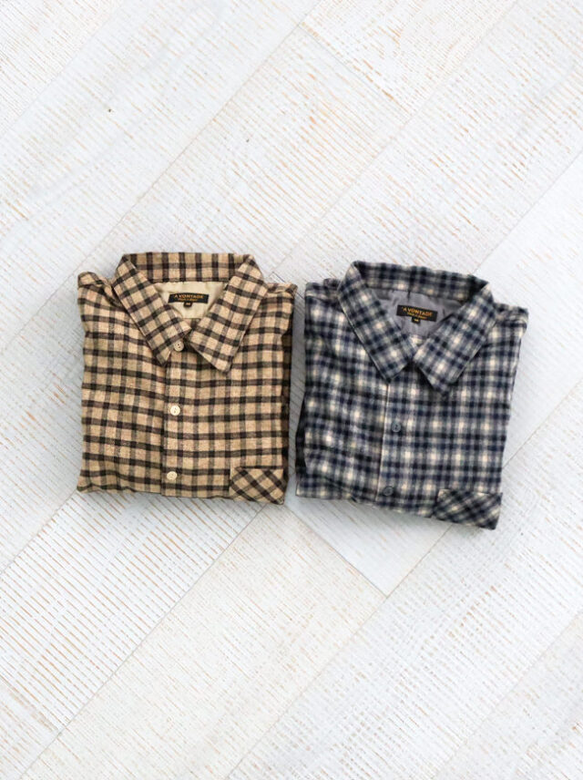 A Vontade Check Pullover Shirts