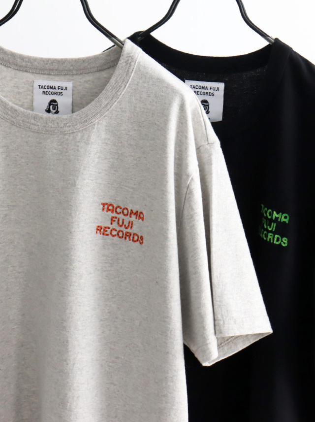 TACOMA FUJI RECORDS TACOMA FUJI ZEBRA LOGO embroidery Tee designed by Jerry UKAI
