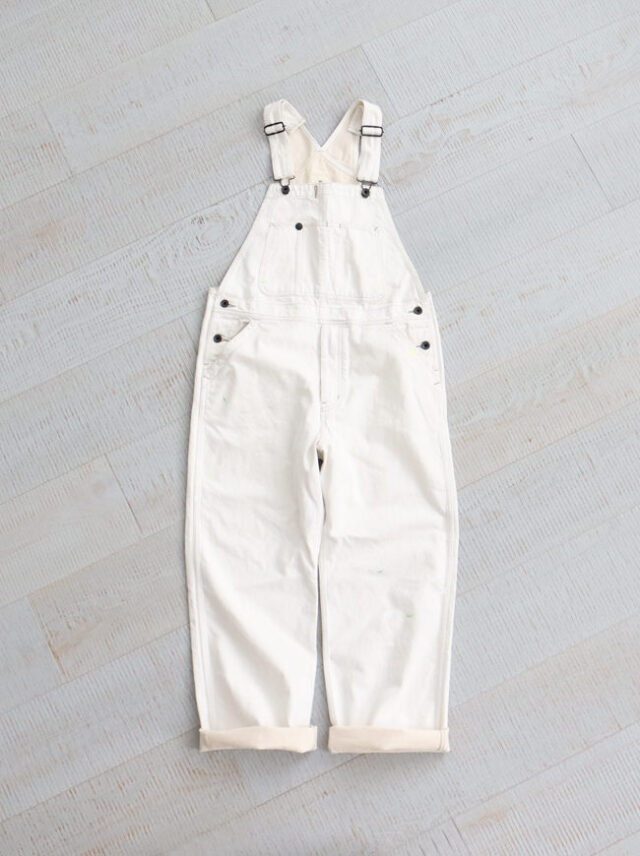 Re:ORDINARY DENIM WORK OVERALL -WHITE USED