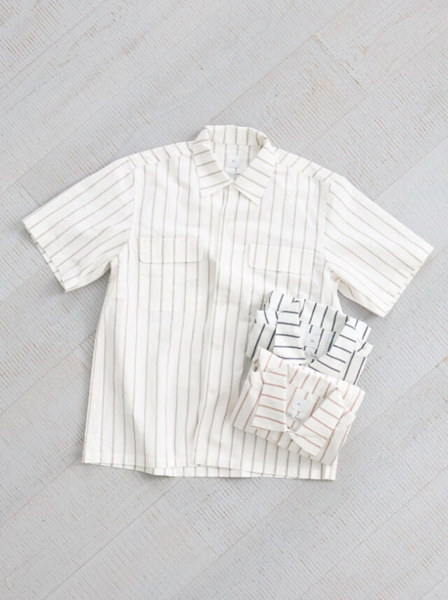 【30%OFF】 Si Open Collor S/S Shirts