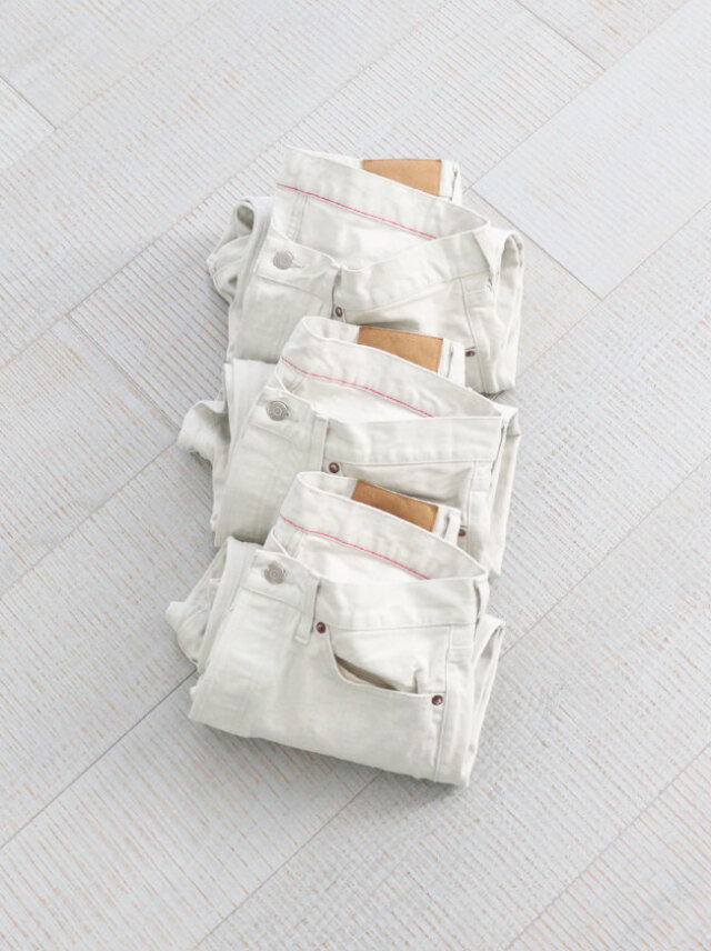 Ordinary fits ANKLE DENIM PANTS - WHITE