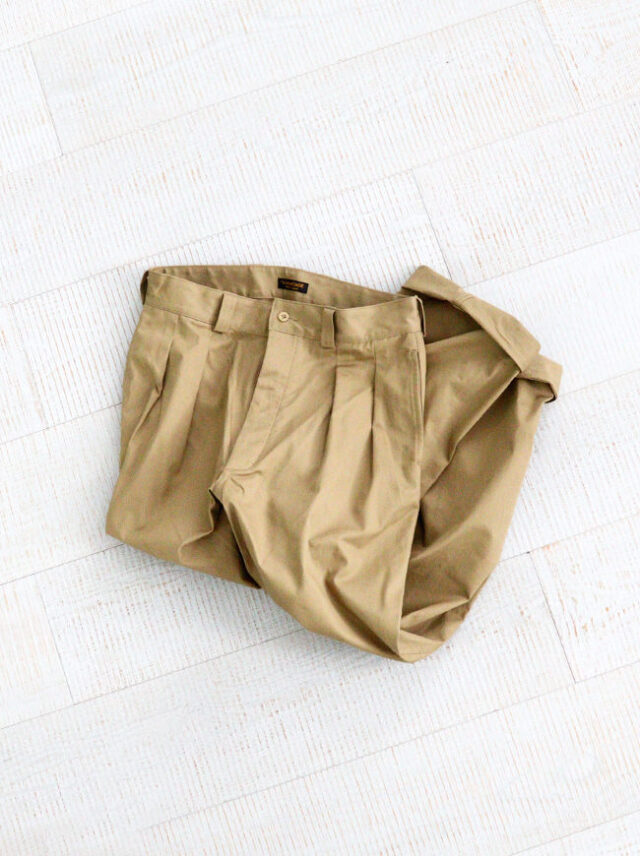 A Vontade French Mil. 2Tuck Trousers -Classic Selvdge Twill-