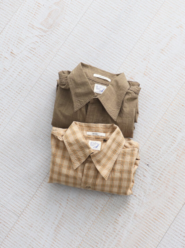 orSlow Vintage Fit Work Shirts -Check